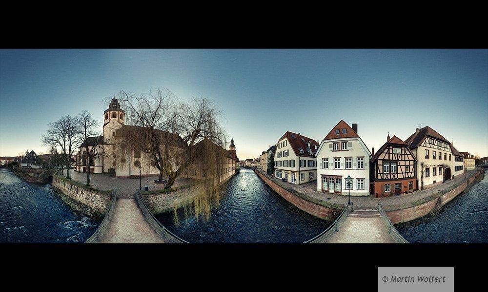 Polepanorama from a bridge in Ettlingen #124